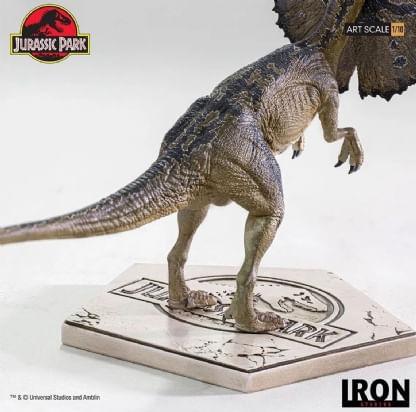 Dilophosaurus---Jurassic-Park---Art-Scale-1-10---Iron-Studios