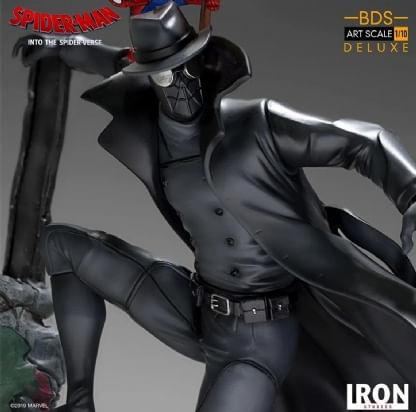 Spider-Noir-and-Spider-Ham---Spiderman--Into-the-Spiderverse---Art-Scale-1-10---Iron-Studios