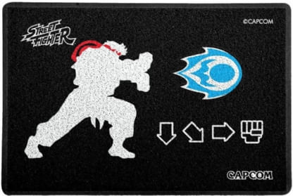 Capacho-Criativo---Street-Fighter---Hadouken---Preto