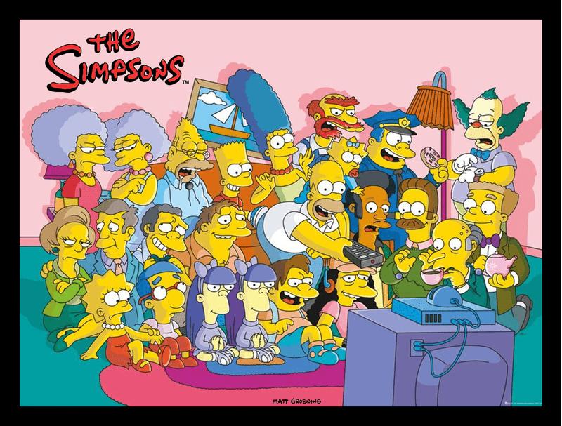 Quadro-com-Moldura---Simpsons